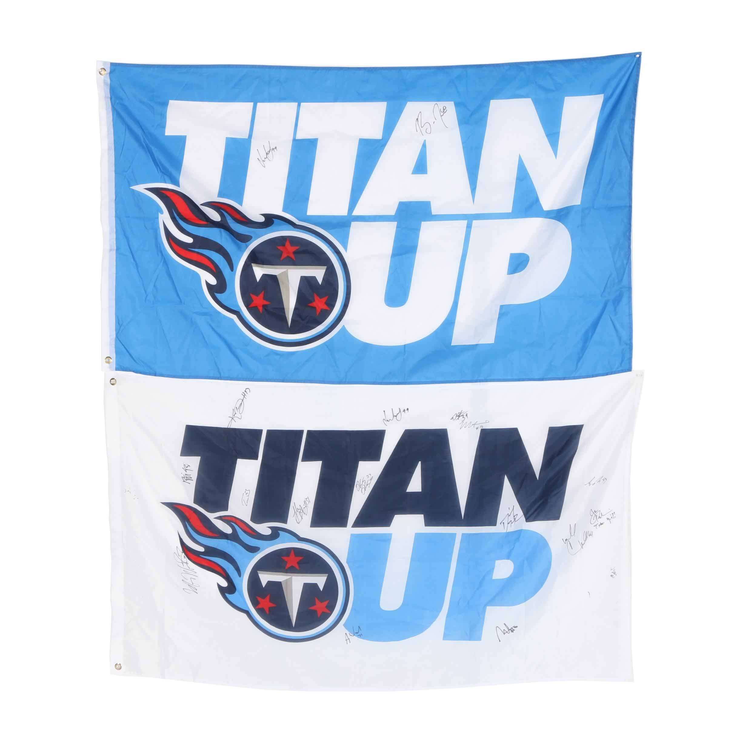 Signed Tennessee Titans Flags