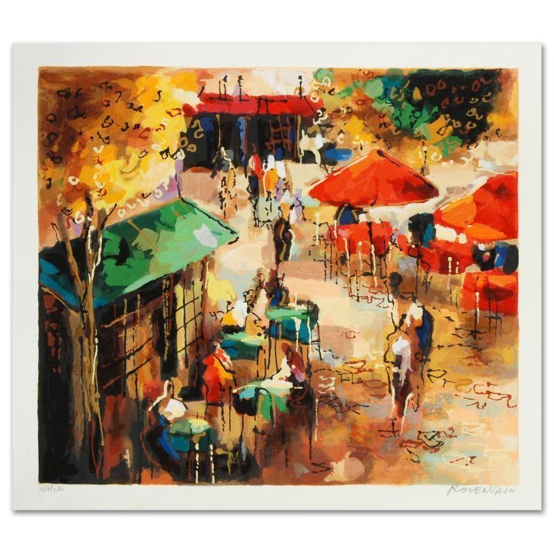 "Michael Rozenvain Limited Edition Serigraph ""Street Scene"""