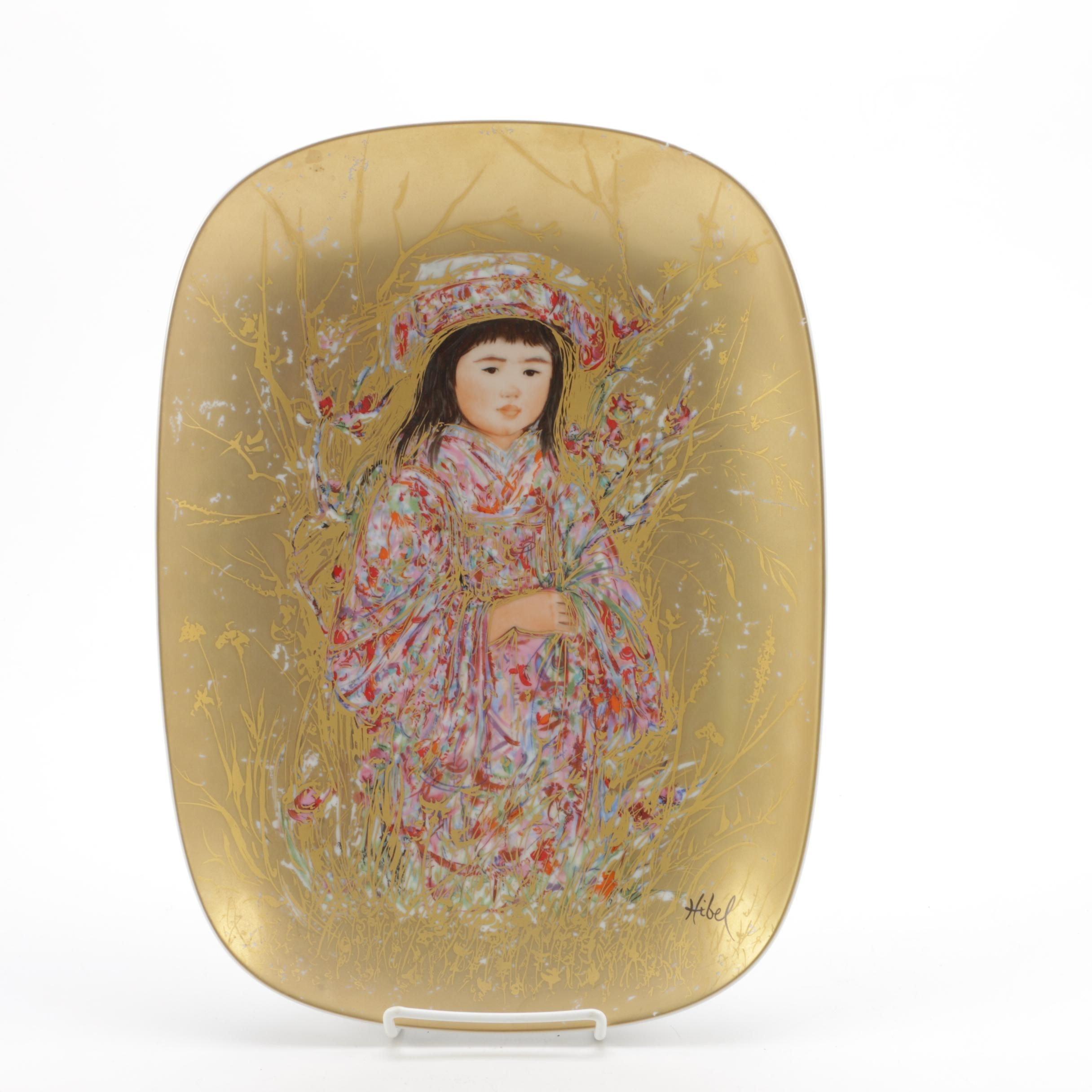 "Edna Hibel Limited Edition Plate ""Takara"""