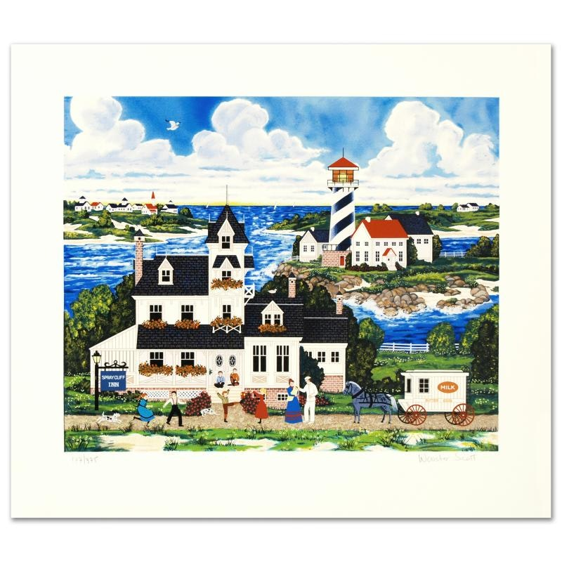 """Jane Wooster Scott Limited Edition Serigraph """"The Milkman's Route"""""""
