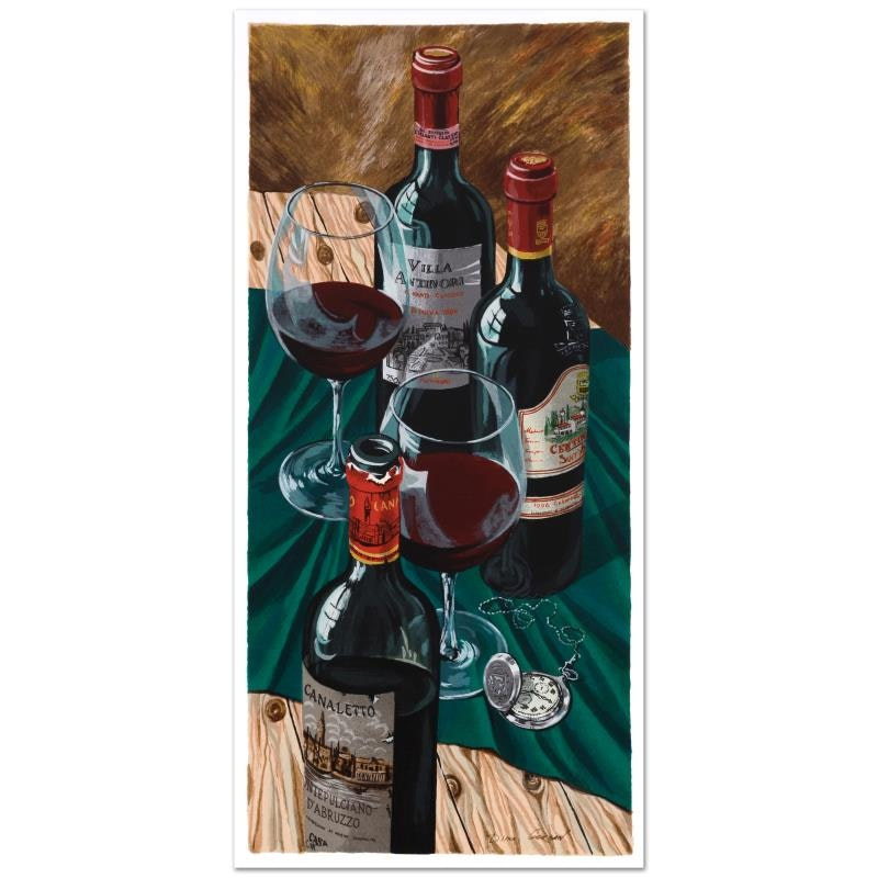 """Dima Gorban Limited Edition Serigraph """"Table for Two"""""""