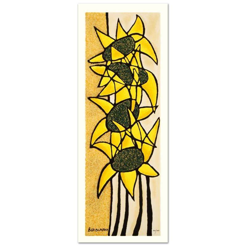 "Avi Ben-Simhon Limited Edition Serigraph ""Sunflower Trio"""