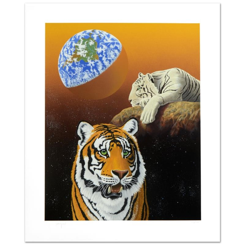 """William Schimmel Limited Edition Serigraph """"Our Home Too III (Tigers)"""""""