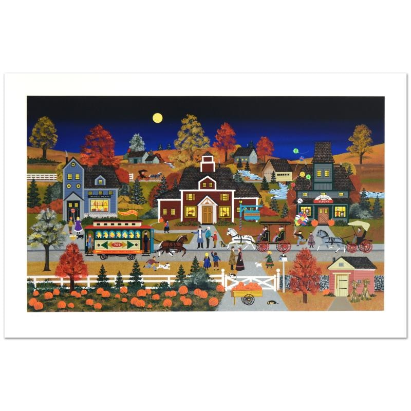 """Jane Wooster Scott Limited Edition Serigraph """"Autumn Reflection"""""""