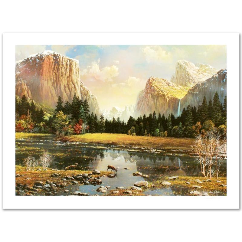 "Alexander Chen Limited Edition Lithograph ""Yosemite Splendor"""