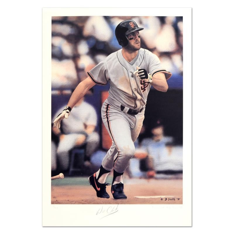 "Daniel M. Smith Limited Edition Lithograph ""Base Hit (Will Clark)"""