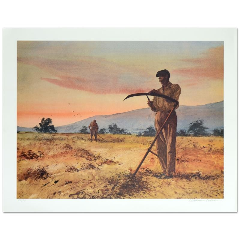 """William Nelson Limited Edition Serigraph """"The Harvesters"""""""