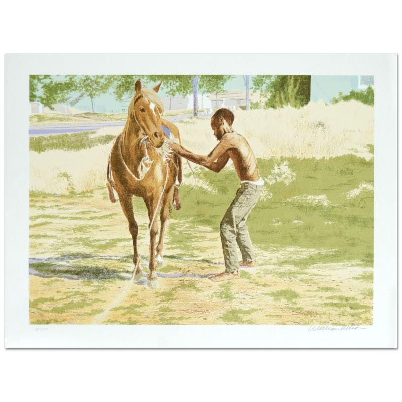 """William Nelson Limited Edition Serigraph """"First Ride"""""""