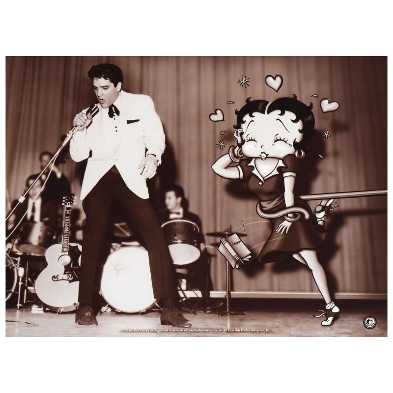 """Limited Edition Lithograph """"Starstruck Betty (with Elvis)"""""""