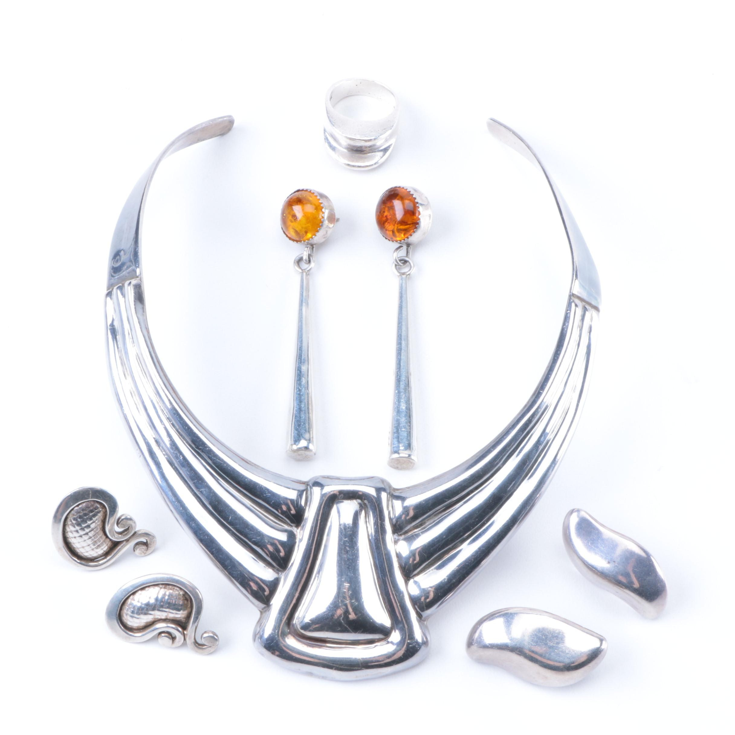 Sterling Necklace, Ring and Earrings