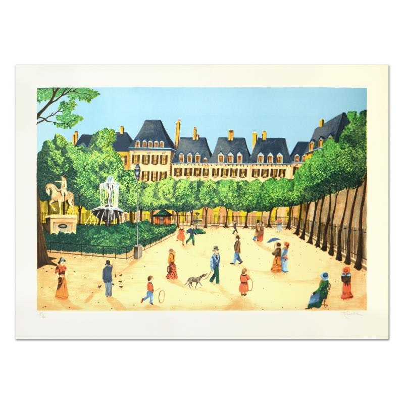 """Heine Limited Edition Lithograph """"Place"""""""
