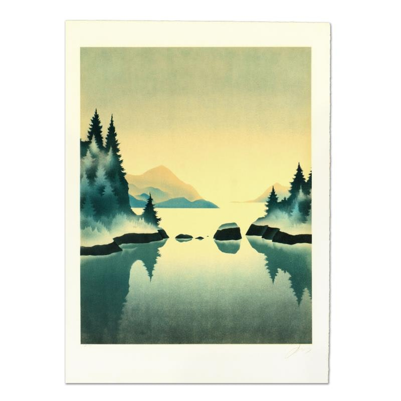 """Rand Limited Edition Lithograph """"Pine Trees"""""""