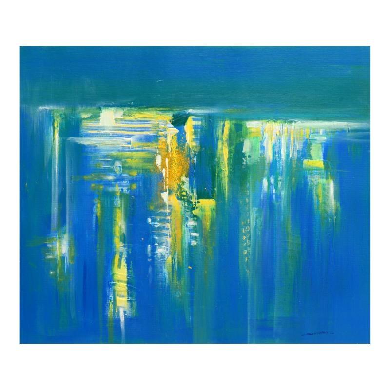 "Roberto Donatelli Original Oil Painting ""Inside the Blue"""