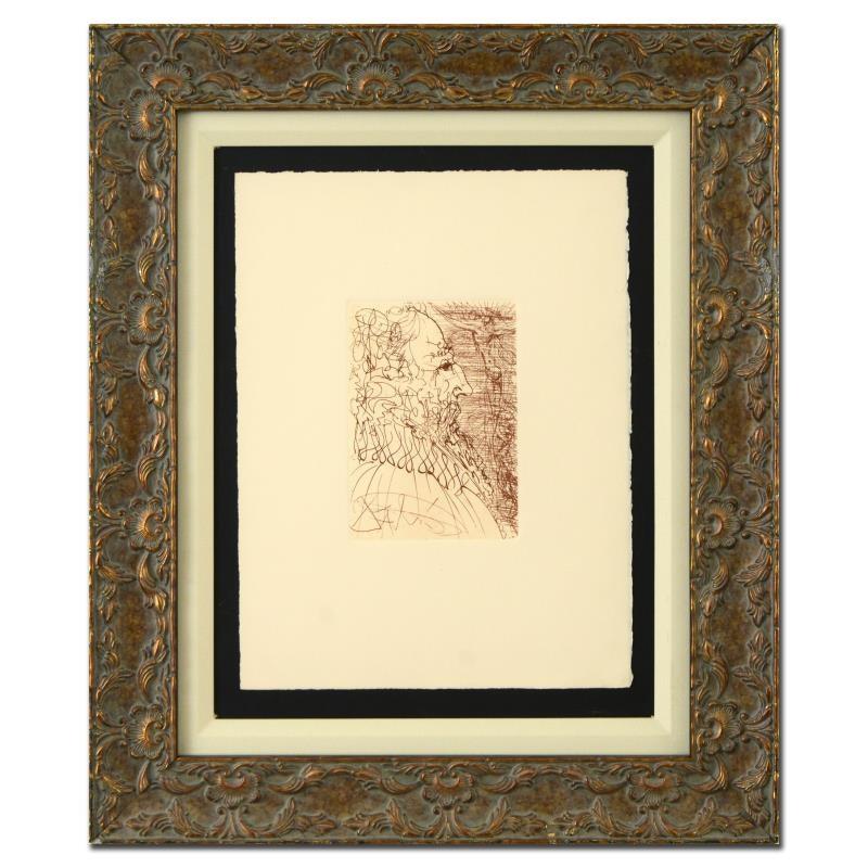 "Salvador Dali Second Edition Restrike Etching on Paper ""El Greco"""