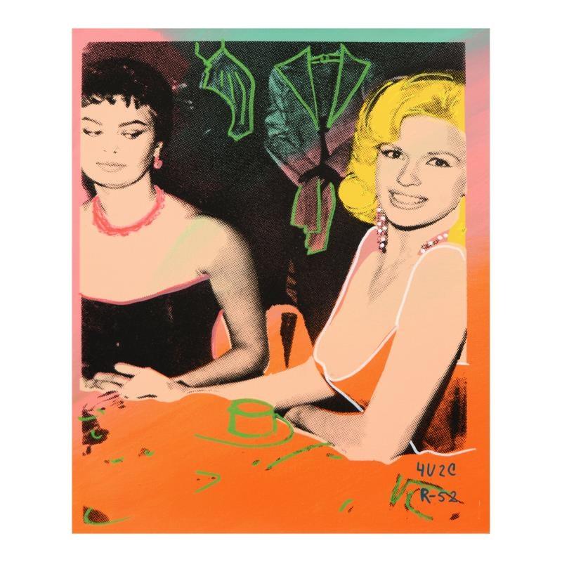 """Ringo Mixed Media Print """"Sophia Takes a Peek"""""""