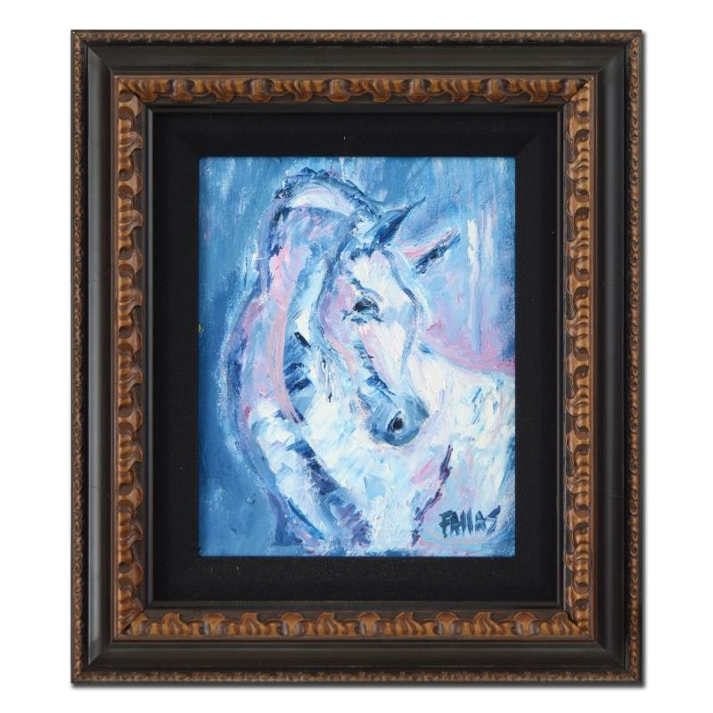 "Elliot Fallas Framed Original Oil Painting ""Man's Best Friend"""