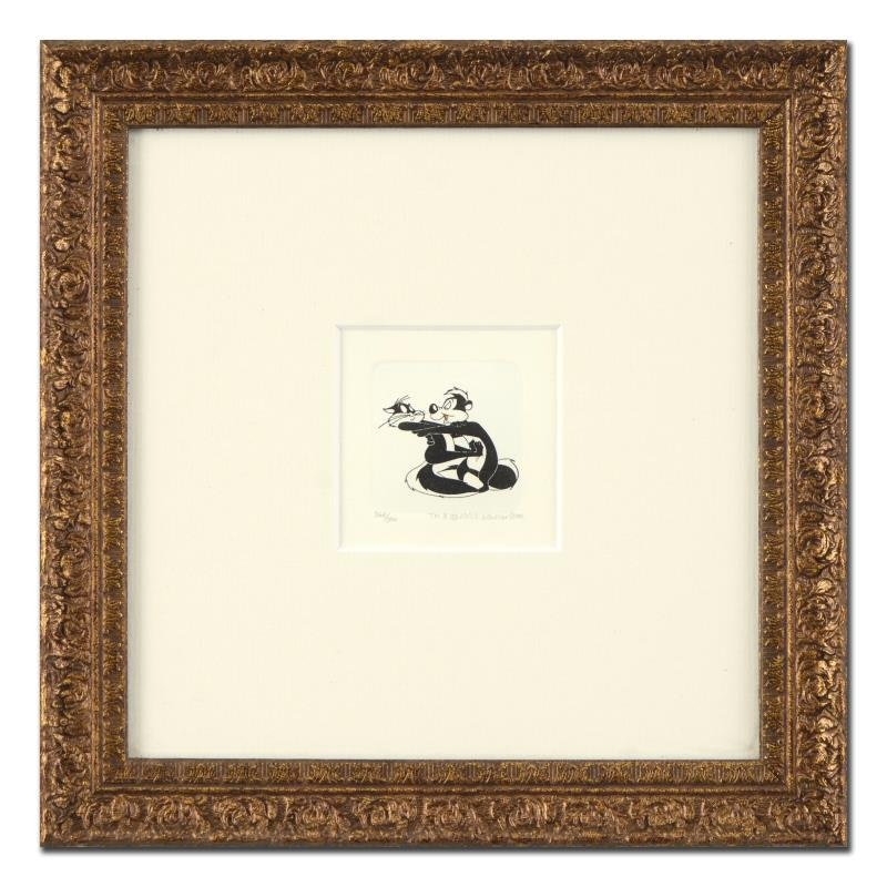 """Limited Edition Etching """"Pepe Le Pew & Penelope Pussycat"""""""