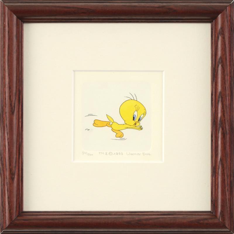 """Framed Limited Edition Etching """"Tweety Bird"""""""