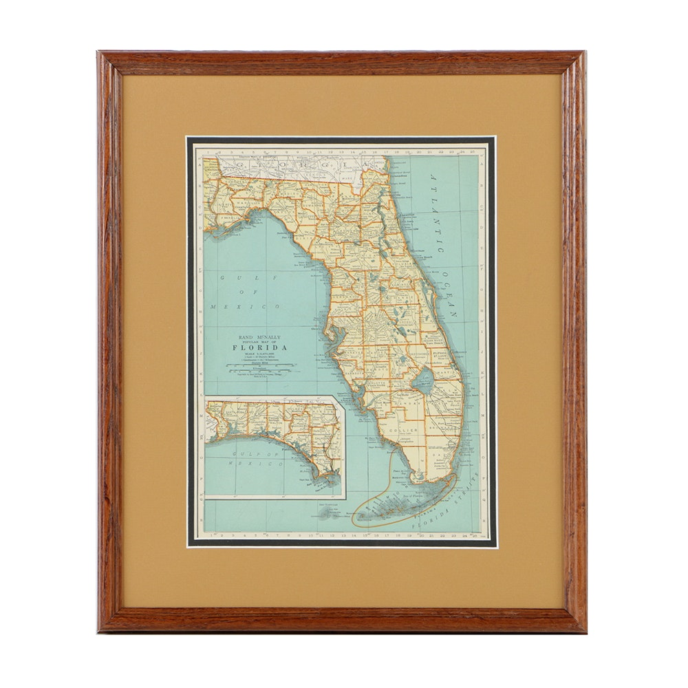 Rand Mcnally Map Of Florida.Rand Mcnally Map Of Florida Ebth