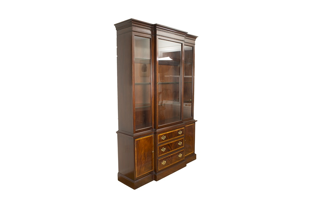 Mid Century Wood China Cabinet by HIckory