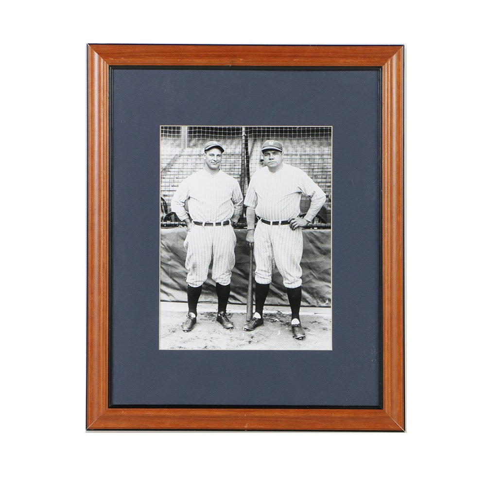 Photograph of Babe Ruth and Lou Gehrig