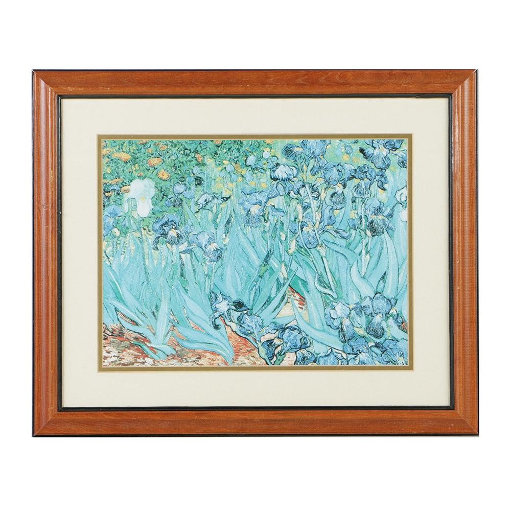 """After Vincent van Gogh Offset Lithograph """"Irises, Sain-Remy"""""""