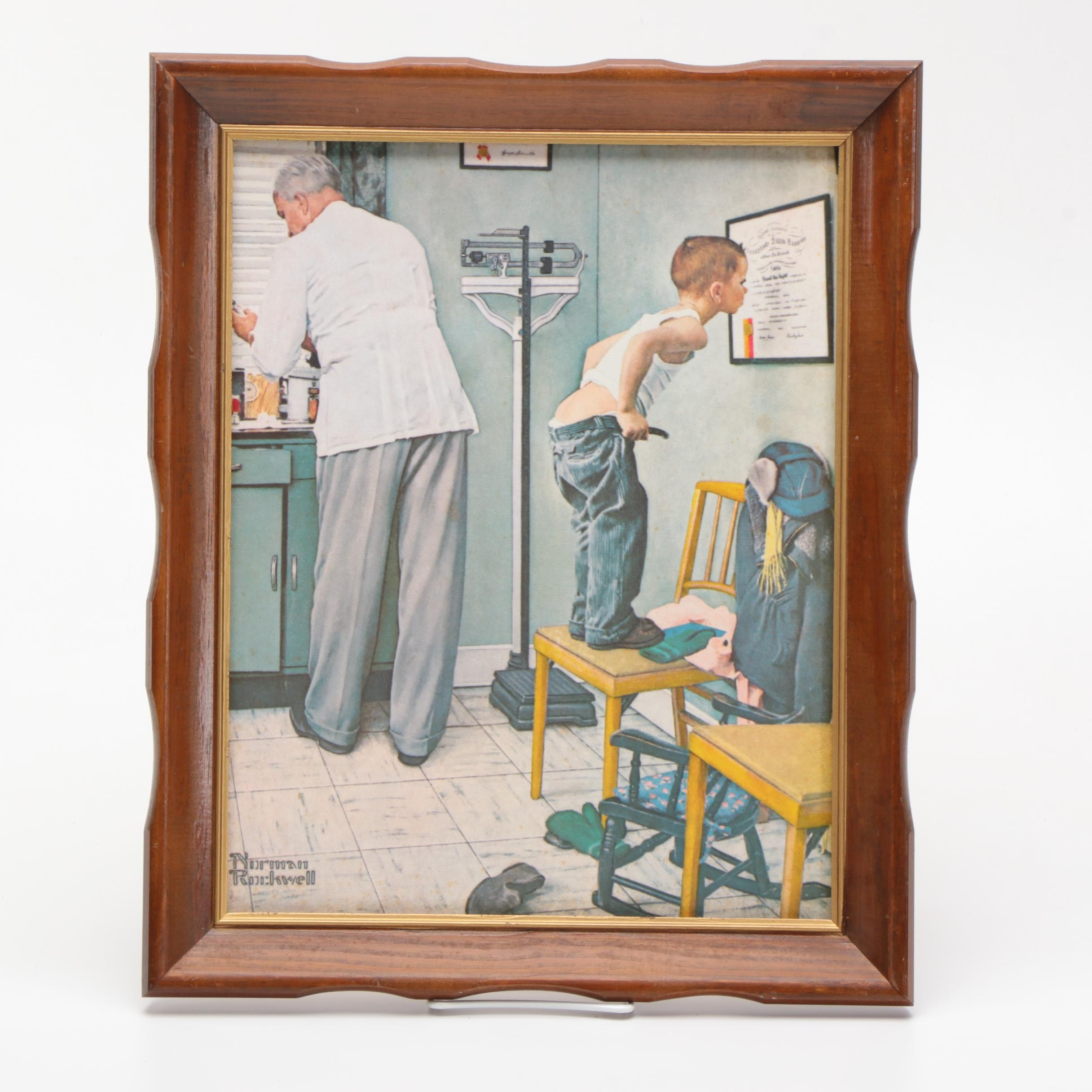 """Offset Lithograph on Paperboard after Norman Rockwell's """"Before the Shot"""""""