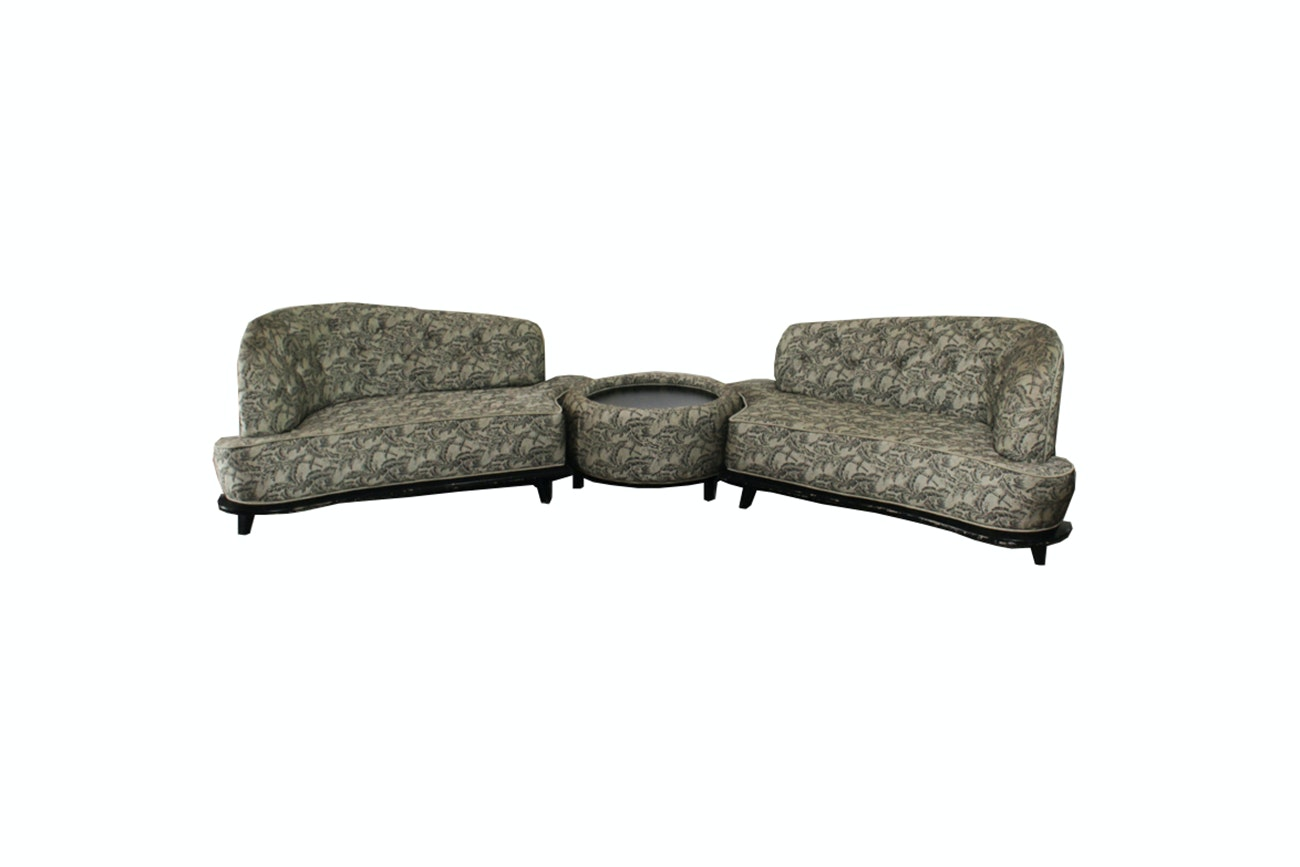 Art Deco Sectional Sofa With Coffee Table ...