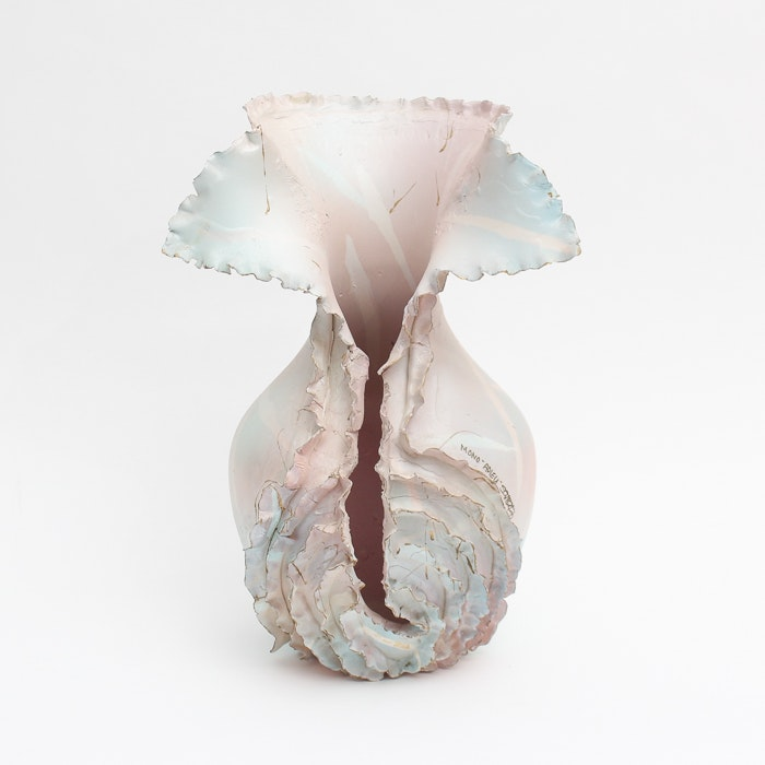 """Signed Thrown and Altered Porcelain Sculpture """"Adieu"""""""
