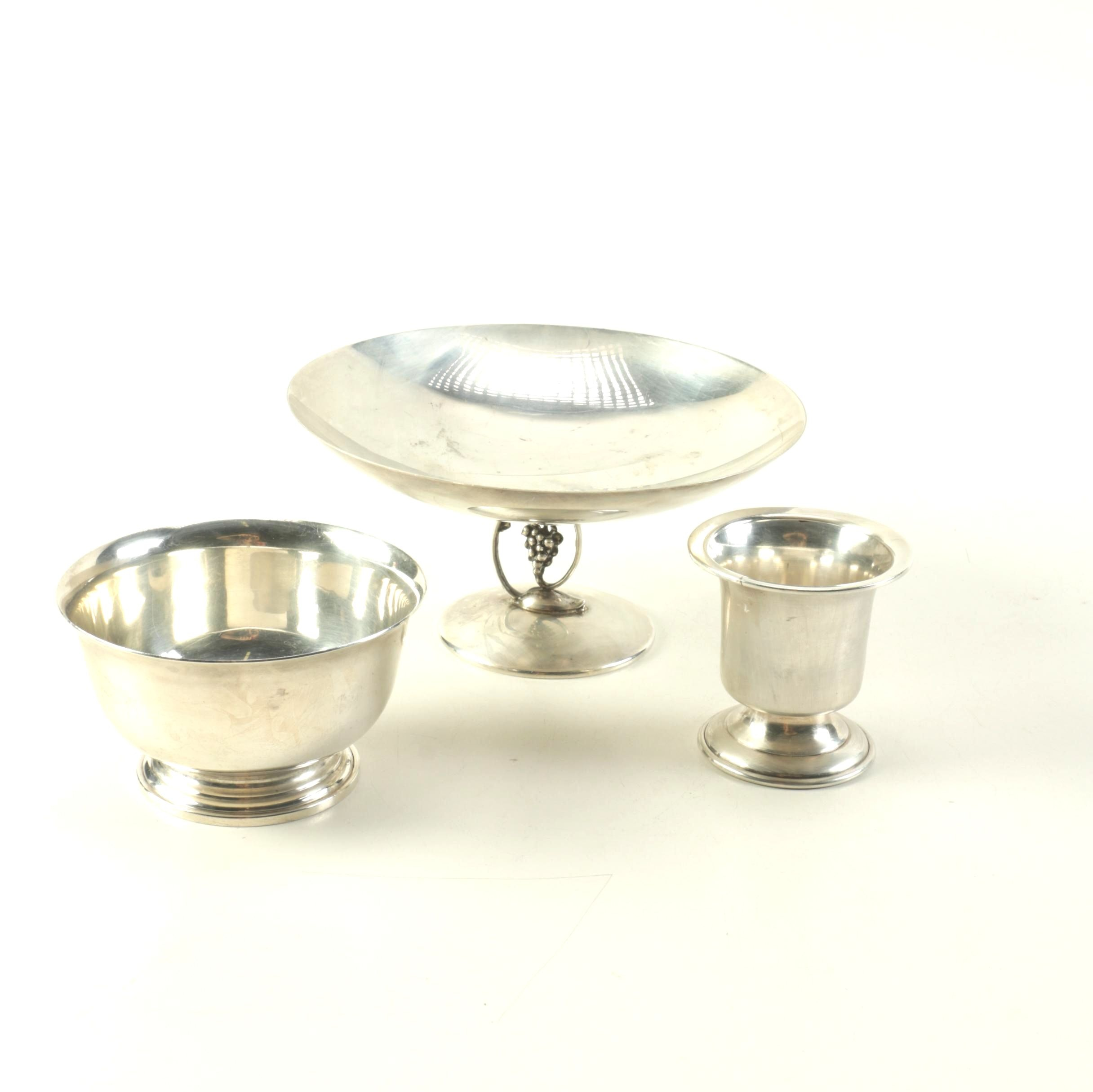 Collection of Three Sterling Silver Decorative Objects