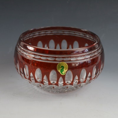 """Waterford """"Clarendon Ruby"""" Crystal Bowl"""