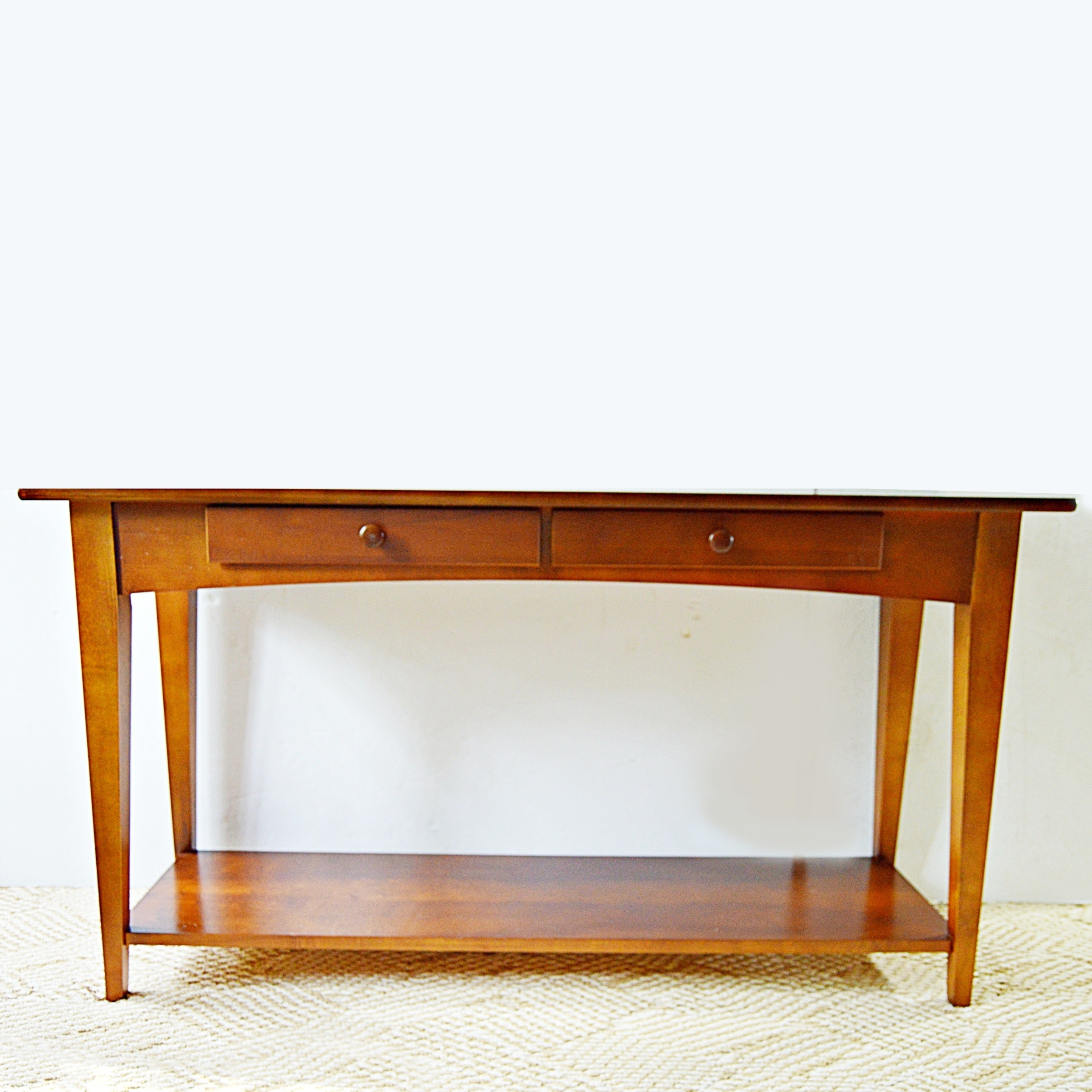 Genial Shaker Style Cherry Console Table ...