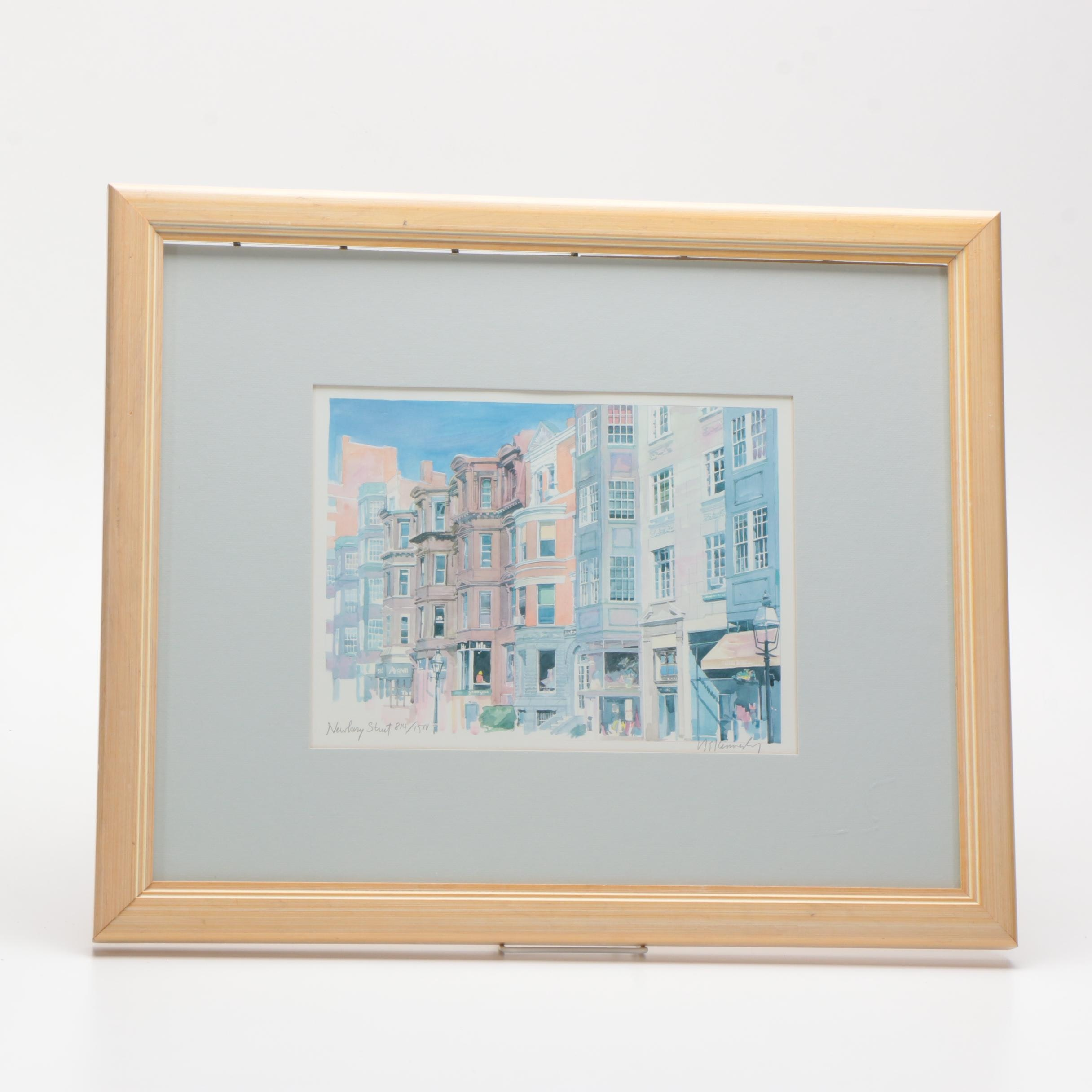 "Robert Kennedy Limited Edition Offset Lithograph ""Newbury Street"""