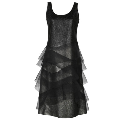 Marc Jacobs Metallic Dress With Tiered Organza