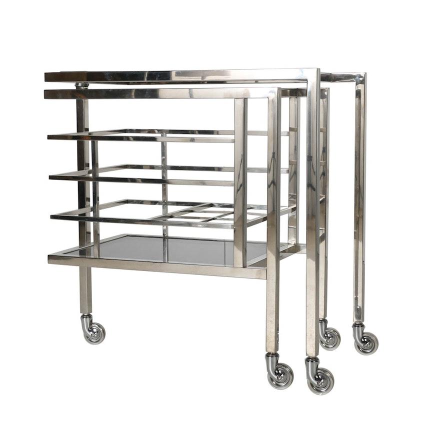 """Designer """"Trolley Collins"""" Beverage Serving Cart"""