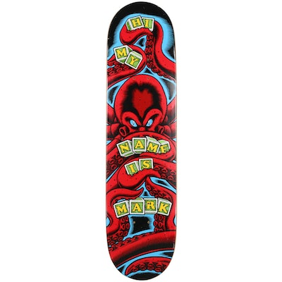 """Rare """"Hi My Name Is Mark"""" Skate Deck Signed by Sean Cliver"""