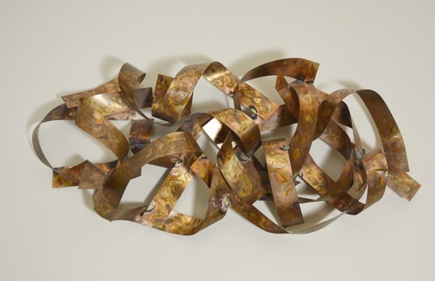 Mid-Century Copper Wall Sculpture
