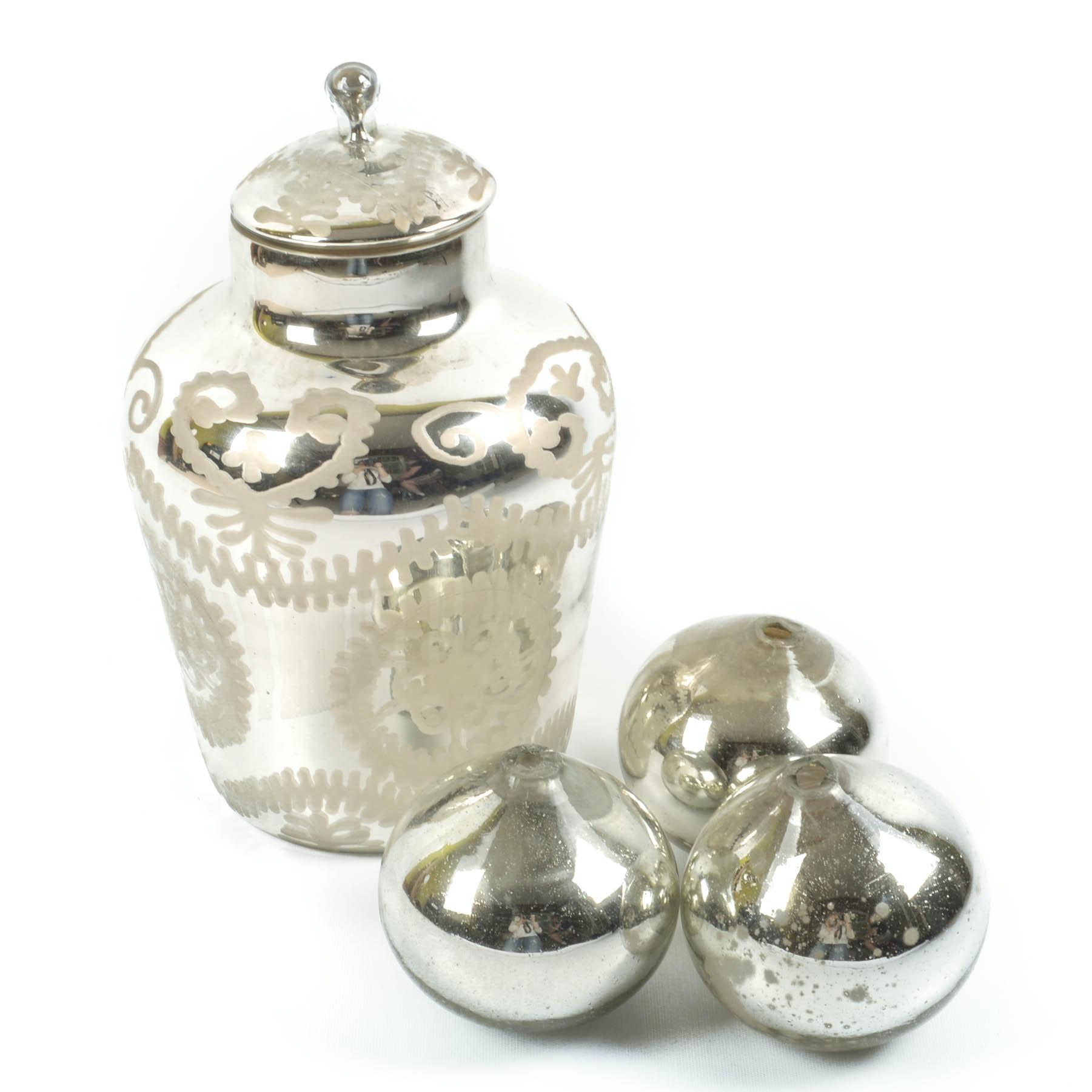 Mercury Glass Style Decor