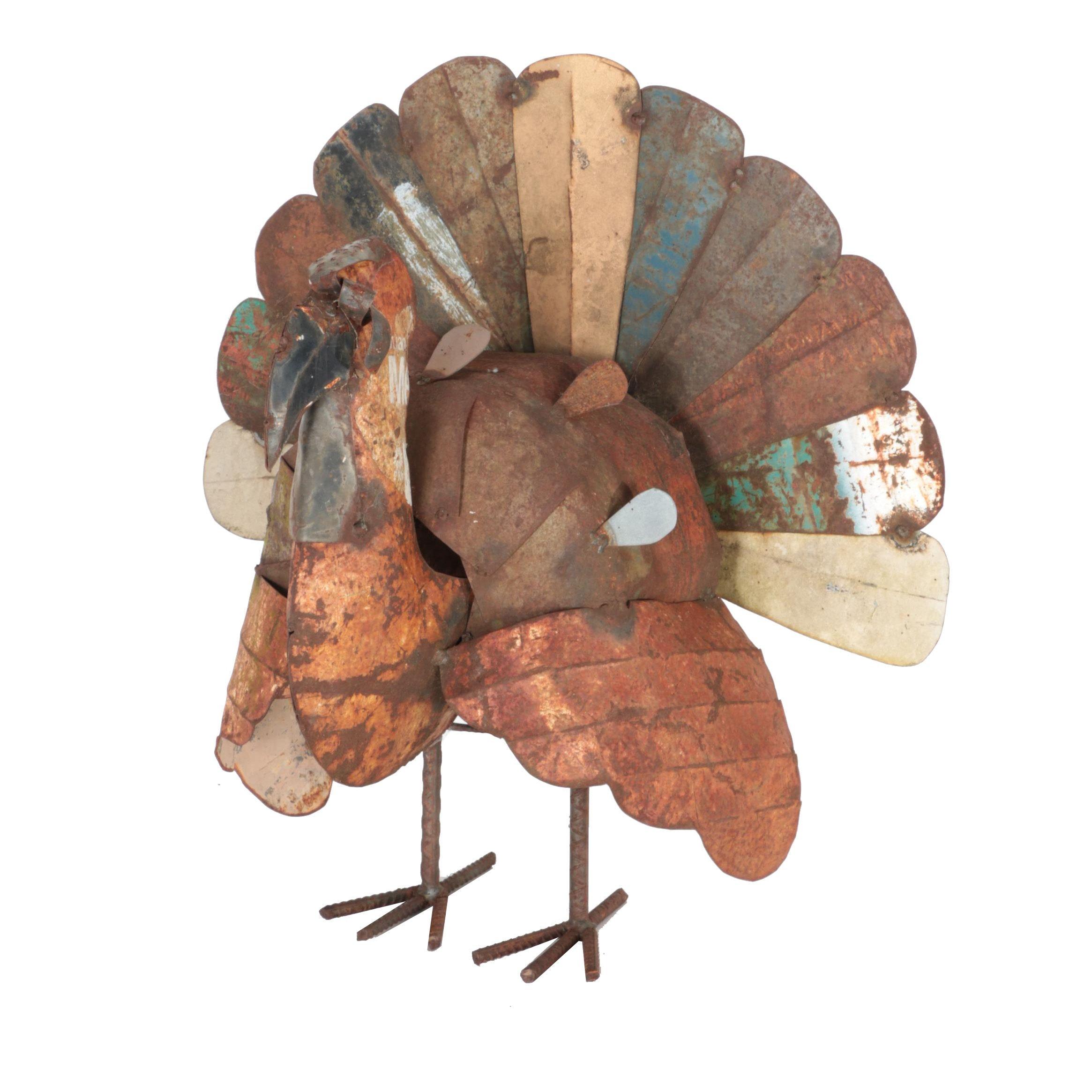 Iron Turkey Sculpture