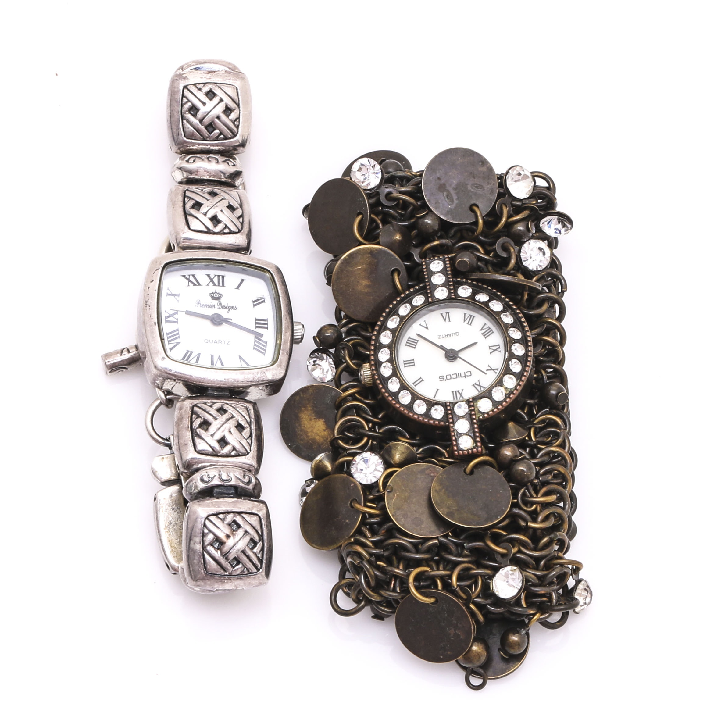 Premier Designs Geometric and Chico's Charm Wristwatches