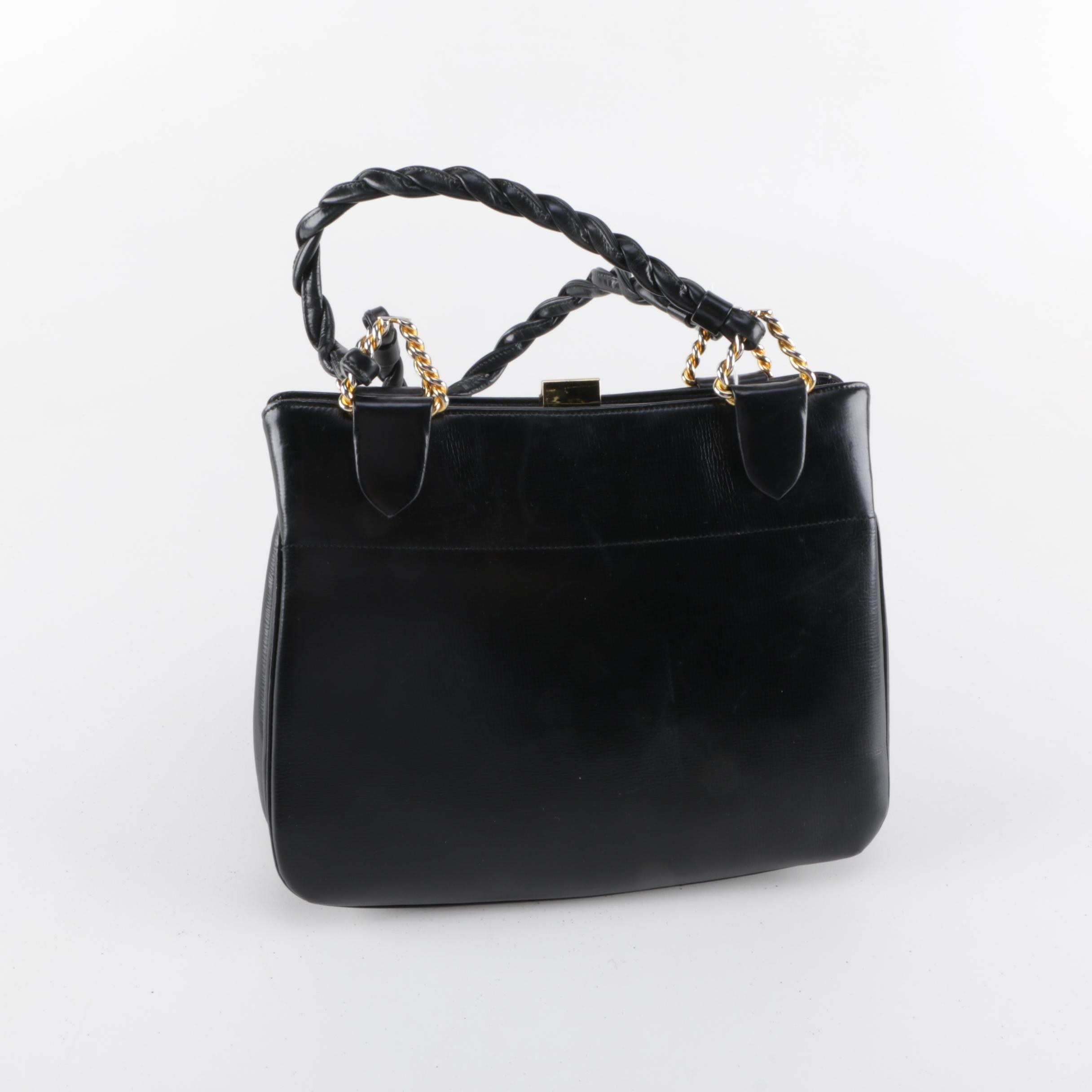 Vintage Coblentz Black Leather Handbags
