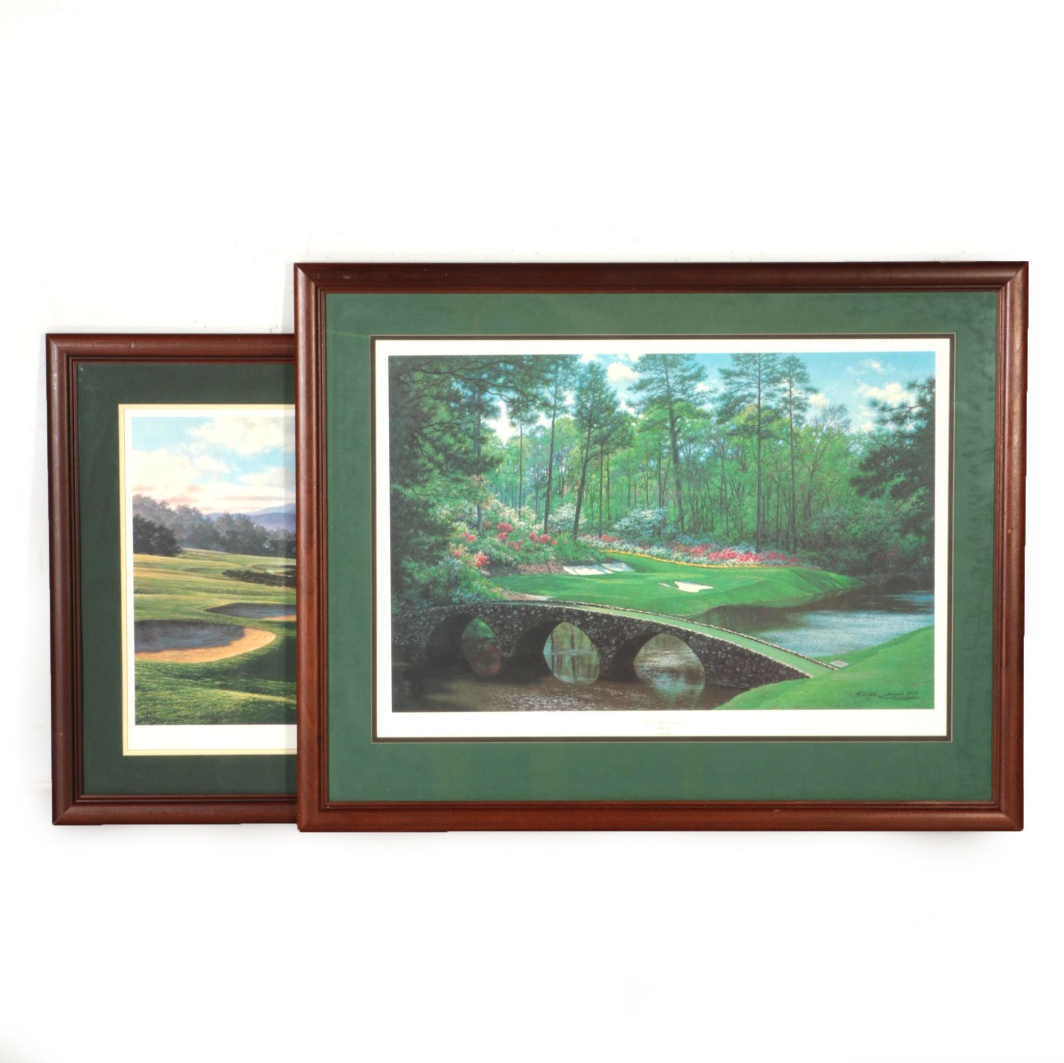 """After Larry Dyke Limited Edition Offset Lithographs """"Psalm 96:11"""" and """"Isiah 40:8"""""""