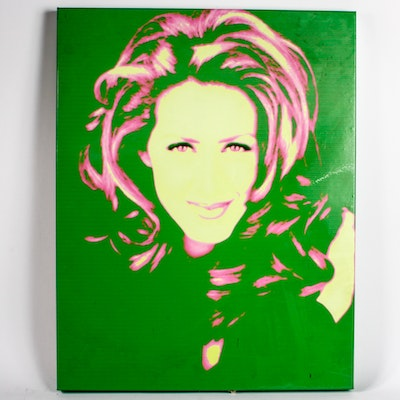 Offset Lithograph Art Print of Joely Fisher With Autograph
