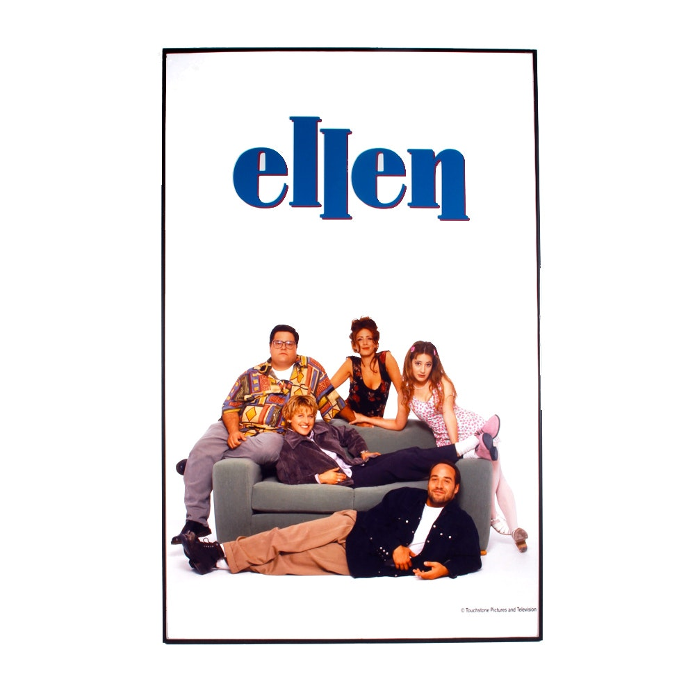 "Framed ""Ellen"" Poster Autographed by Joely Fisher"