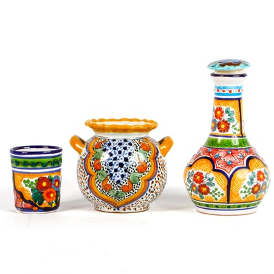 Collection of Hand Painted Mexican Ceramics