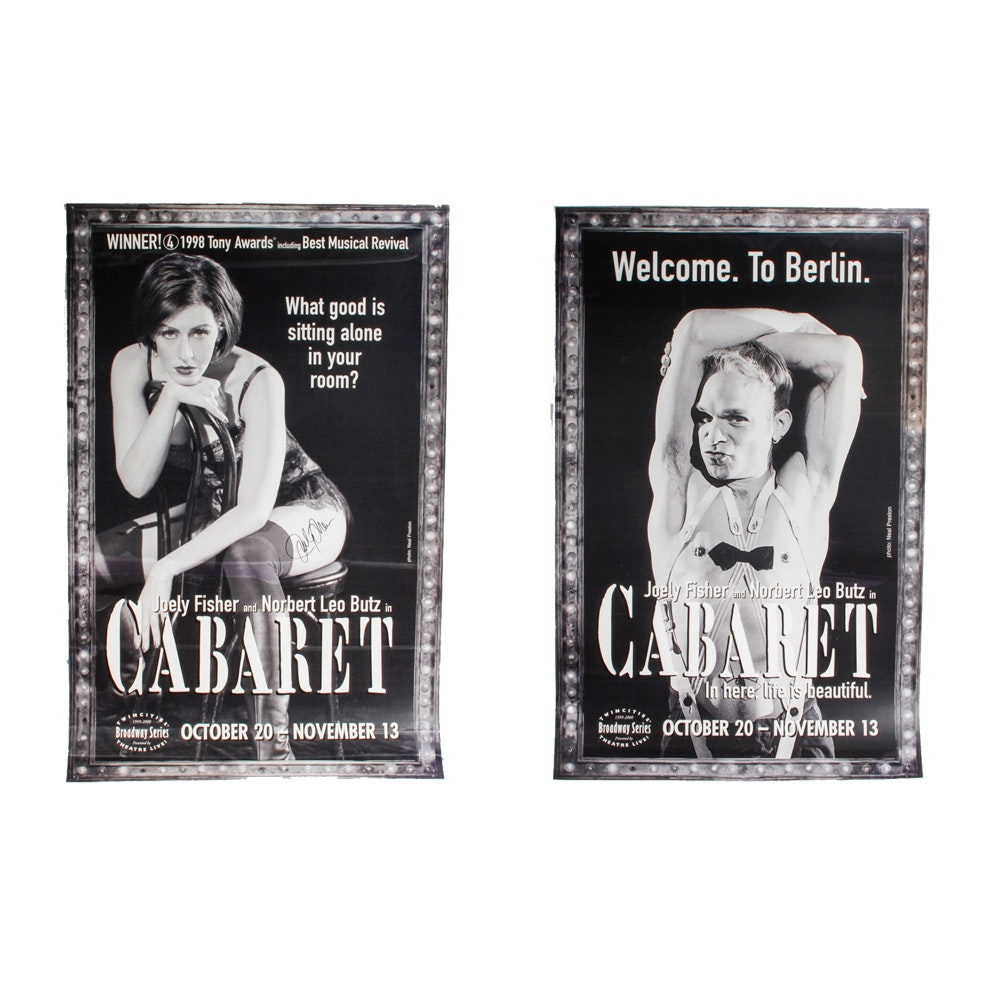 "Signed Joely Fisher ""Cabaret"" Broadway Musical Poster"