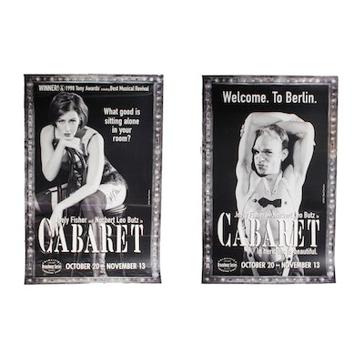 """Signed Joely Fisher """"Cabaret"""" Broadway Musical Poster"""