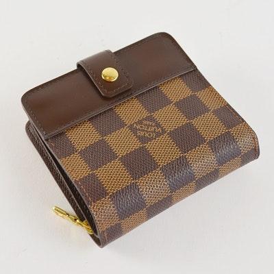 Louis Vuitton Damier Ebene Zippe Zipped Compact Wallet