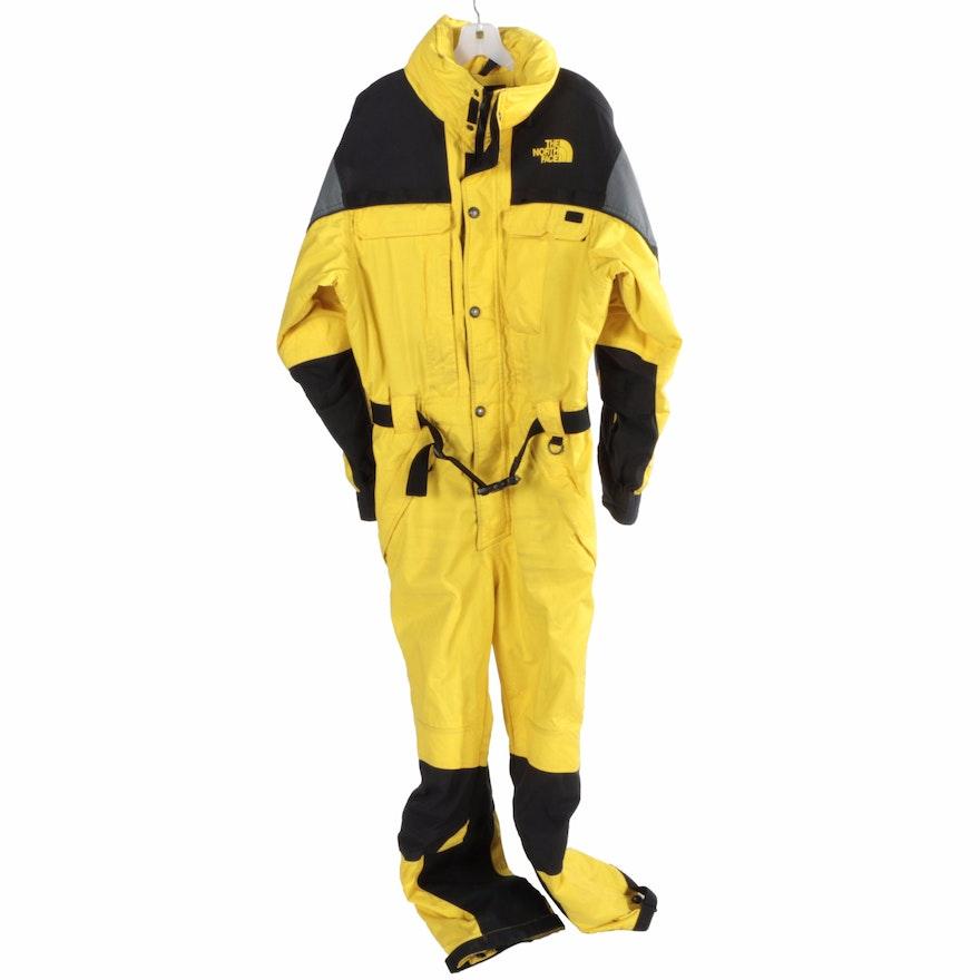 6128630232de North Face Extreme Gear Men s Yellow and Black Snowsuit   EBTH