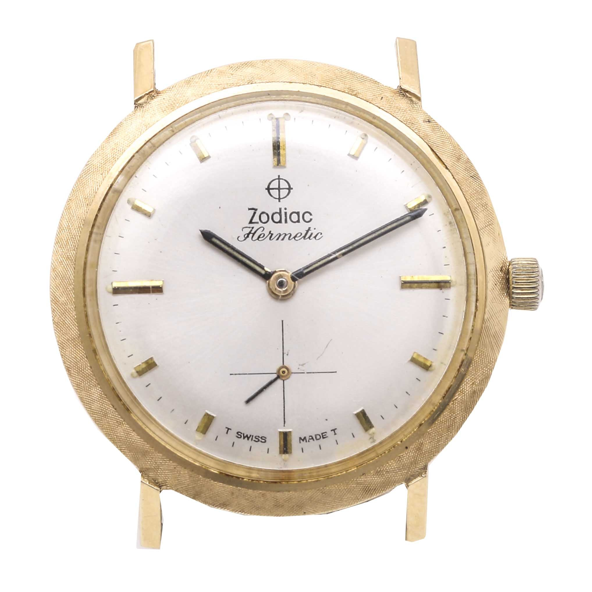 Zodiac Hermetic 14K Yellow Gold Wristwatch